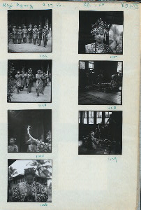 1103-09. Dancers and gamelan. Kaju Agung, 9.27.56.