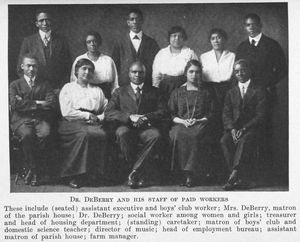 Dr. DeBerry and his staff of paid workers.