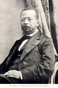 Hilary R. W. Johnson, President of Liberia 1884-92.