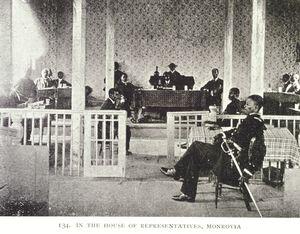 In the House of Representatives, Monrovia.