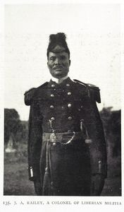 J. A. Railey, a Colonel of Liberian Militia.