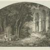 [Paysage avec ruines antiques, d'après Ed. Bertin.]