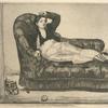 Jeune femme en costume espagnol (en travesti), d'après Edouard Manet.