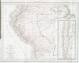 Carte du Péru et du Chili.