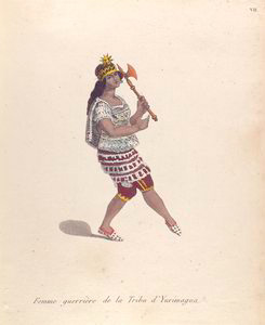 Ferre guerrière de la tribu d'Yurimagua.