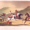 Fight between the ranchero and his Indian antagonists.