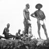 Gora men on banks of St.Paul's River.