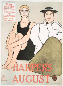 Harper's August, Tom Sawyer Detective a new story by Mark Twain Begins in this Number
