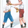 Parrying left lead at the body and countering with a left hook to the jaw.