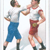 Avoiding a right lead and cross-countering with right upper cut.