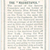 The Mauretania.
