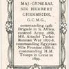 Maj. General Sir Herbert Chermside, G.C.M.G.