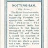 City arms, Nottingham.