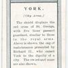 City arms, York.