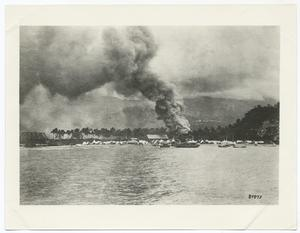 Burning of Siboney by the Spaniards, Siboney, Cuba, 7-1898