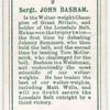 Sergt. John Basham.