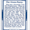 The cross-parry.