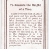 To Measure the Height of a Tree.