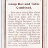 Camp Box and Table Combined.