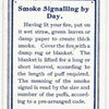 Smoke Signalling by Day.