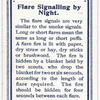 Flare Signalling by Night.