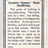 Scouts' Game:  Deer Stalking.