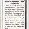 Scouts' Game:  Deer Stalking.