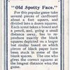 """""""Old Spotty Face."""""""