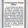 An Emergency Water Filter.