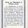 How to Sharpen a Plane-Iron.