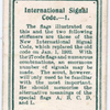 International Signal Code. - 1.