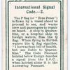 International Signal Code. - 2.