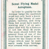 Scout Flying Model Aeroplane.