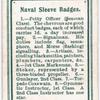 Naval Sleeve Badges.