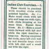 Indian Club Excercises. - 1.