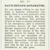 Davis Escape Apparatus.