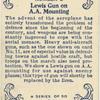 Lewis Gun on A.A. Mounting.
