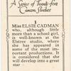 Miss Elsie Cadman.