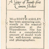 Miss Edith Ashley.