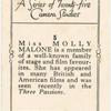 Miss Molly Malone.