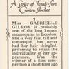 Miss Gabrielle Gilmore.