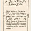 Miss April Claire.