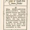 Miss Bernardine Wallace.