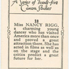 Miss Nancy Rigg.
