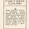 Miss Nancy Rigg.