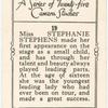 Miss Stephanie Stephens.