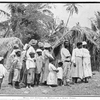 Wives and children of workers on a sugar estate.