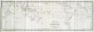 Kaart ter aanwijzing der reize van het schip Wilhelmina en Maria gevord door J. Boelen Joh. Zoon.