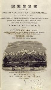 Reize naar de oost-en westkust van Zuid-Amerika.... [Title page].