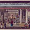 Het  inpakken en afwegen der Theeën, bji een'der Hong-kooplieden te Canton.